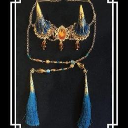 estrelleas/エストレージャス  百鬼祭鬼角頭上装飾 装飾ツノ 青系