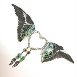 魔界ノ風鷹/マカイノカゼタカ セキセイインコの翼イヤーフック 水色