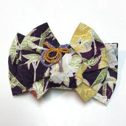 おびるん 幸菱結びバレッタ 松竹梅/りんず/紫