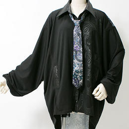 QUTIE FRASH/キューティーフラッシュ ネクタイ付きBIGシャツ 7538-SCT