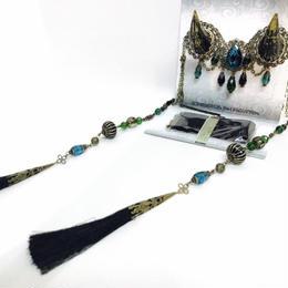 estrelleas/エストレージャス  百鬼祭鬼角頭上装飾 装飾ツノ 黒 T001
