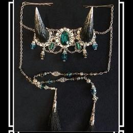 estrelleas/エストレージャス  百鬼祭鬼角頭上装飾 装飾ツノ 黒系