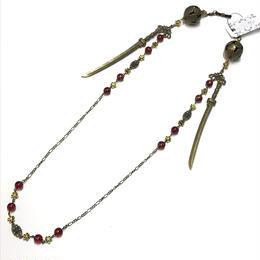 Phantom Jewelry/ファントムジュエリー 鞠と刀のメガネチェーン 赤