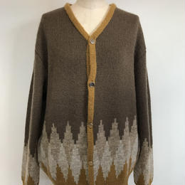 MOHAIR KNIT ZIP CARDIGAN