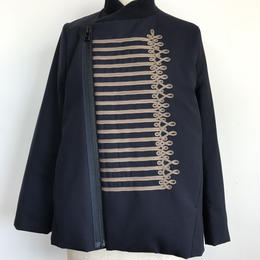 EMBROIDARY RIB WOOL JACKET