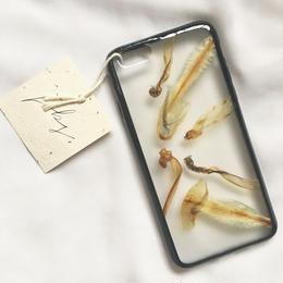 フローラル i phone 6/6S case(ブラック)①