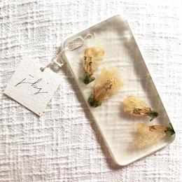 フローラル i phone7/8Plus case  (ホワイト)①