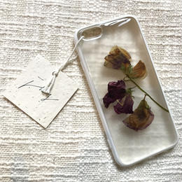 フローラル i phone 6/6S case (ホワイト)⑥