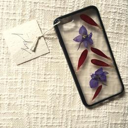 フローラル i phone 6/6S case(ブラック)②