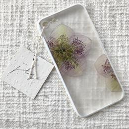 フローラル i phone 7/8 case (ホワイト)⑤