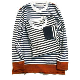 CURLY(カーリー)   CONFUSED LS BORDER TEE