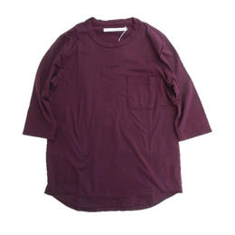 CURLY(カーリー)   PPM QS POCKET TEE (BURGUNDY)