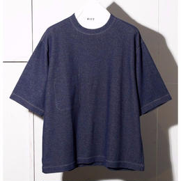 COTTON  PIQUE  REVERSIBLE  LOOSE  TEE
