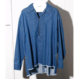 6 OZ DENIM  PULLOVER OPEN COLLAR SHIRTS