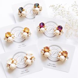 ★2019 A/W New Color★SWAROVSKI®・Crystals Bijoux Pierce -Round-