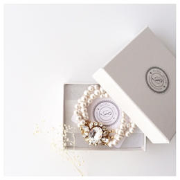 Crystal ×  Pearl Bracelet