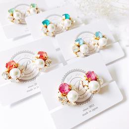 ★2018 S/S  New Color★SWAROVSKI®・Crystals Bijoux Earrings -Round-