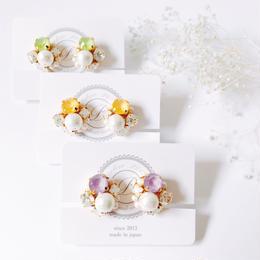★2019 S/S  New Color★SWAROVSKI®・Crystals Bijoux Earrings -Round-