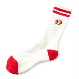 ellesse regular rib socks 2 (WHITE/RED, WHITE/NAVY, NAVY/WHITE)