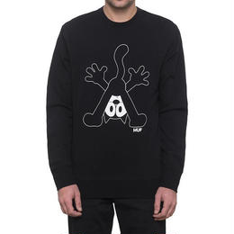 HUF × FELIX CREW NECK FLEECE (BLACK)