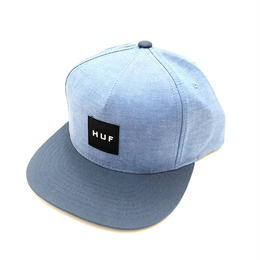 HUF CHAMBRAY BOX LOGO SNAP BACK (NAVY)