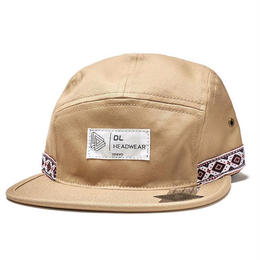 DL Headwear Omega 5Panel Camp Cap (outdoor khaki, outdoor black)