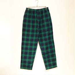 BUTTER GOODS TARTAN CASUAL PANTS (NAVY/GREEN)