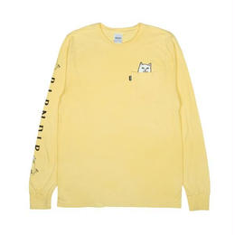 RIPNDIP LORD NERMAL POCKET L/S (BANANA)