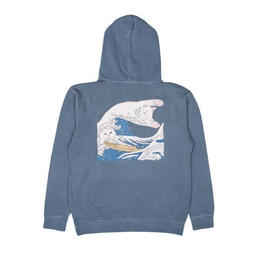 RIPNDIP THE GREAT WAVE OF NERM HOODIE (BABY BLUE)