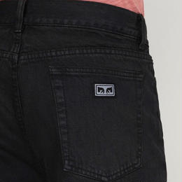 OBEY HARDWORK DENIM PANTS (DUSTY BLACK)