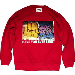 ATTACK ORIGINAL HAVE YOU EVER SEEN? CREW NECK SWEAT (RED)