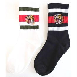 superior TIGER SOCKS (WHITE, BLACK)