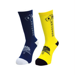 GanaG Socks Gyoku-sai Socks 2.0 (NAVY, YELLOW)