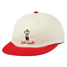 BUTTER GOODS TROUBLE IN MIND 6 PANEL CAP (VANILLA / RED)