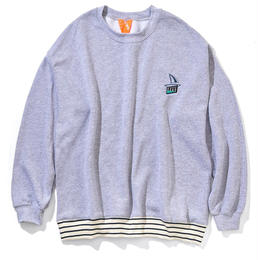 FLATLUX Onboard Crewneck (HEATHER GREY, FOREST, NEON ORANGE, LIGHT PINK)