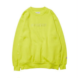 Evisen Skateboardsゑ REPLICANT STITCH CREW NECK (RED,  BLACK, LIME YELLOW, BEIGE)