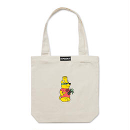 PIZZA POOH BONG TOTE (CREAM, BLACK)