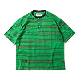 TIGHT BOOTH PRODUCTION BOARDER HENLEY T-SHIRT (Green)