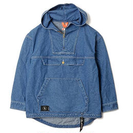 FLATLUX Sly Denim Anorak Jacket (blue, black, beige)