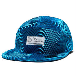 DL Headwear Omega 5Panel Camp Cap (wavelour blue, wavelour bronze, wavelour purple, wavelour black)