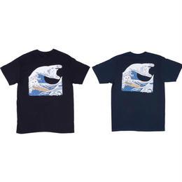 RIPNDIP THE GREAT WAVE OF NERM TEE (BLACK, NAVY BLUE)
