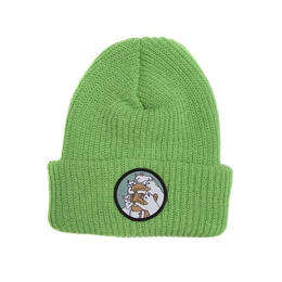RIPNDIP NERM BEARD RIBBED BEANIE (BLACK, MINT GREEN)