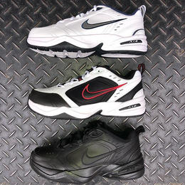 NIKE AIR MONARCH IV (WHITE/NAVY/SILVER, BLACK/WHITE, BLACK/BLACK)