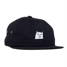 RIPNDIP LORD NERMAL 6 PANEL POCKET HAT (BLACK)