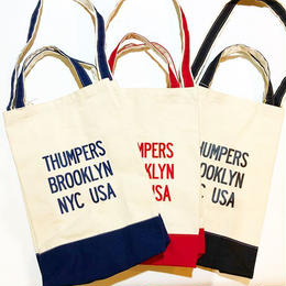 THUMPERS NYC LOGO TOTE BAG (NAVY, RED, BLACK)
