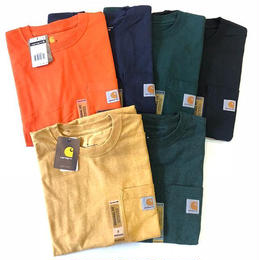 CARHARTT HEAVYWEIGHT POCKET TEE (ORANGE, NAVY, HUNTER GREEN, HEATHER YELLOW, HEATHER GREEN)