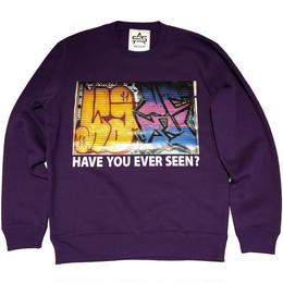 ATTACK ORIGINAL HAVE YOU EVER SEEN? CREW NECK SWEAT (PURPLE)