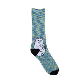 RIPNDIP LORD NERMAL SOCKS (SPACE DYE, BLACK DYE)