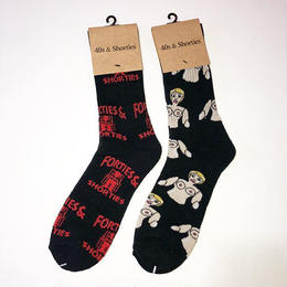 40S&SHORTIES OUTLAW SOCKS (BLACK) BLOW UP DOLL SOCKS (BLACK)