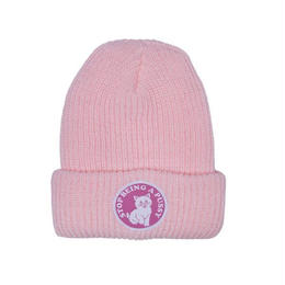 RIPNDIP STOP BEING A PUSSY RIBBED BEANIE (PINK, BLACK)